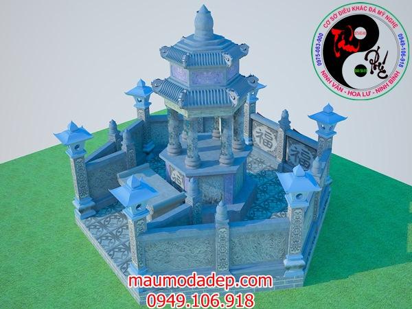 Bản vẽ thiết kế lăng mộ đá 17