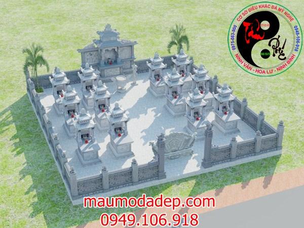 Bản vẽ thiết kế lăng mộ đá 20
