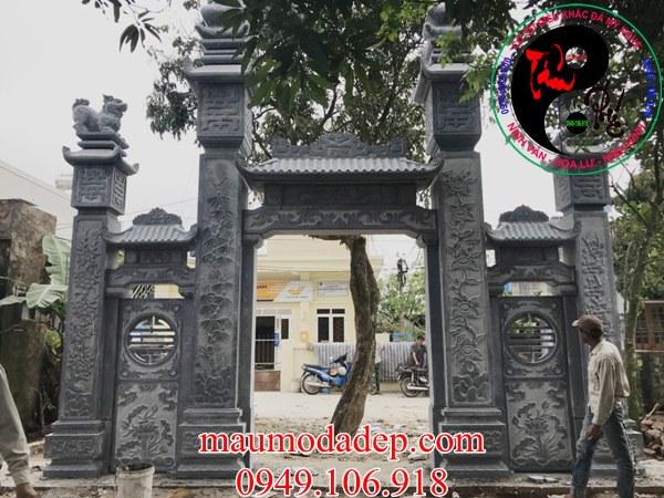 Lắp đặt cổng tam quan đẹp tại Thái Bình