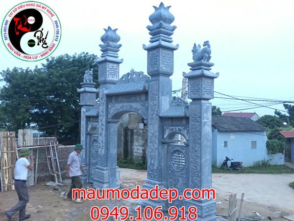 Lắp đặt cổng đình chùa đẹp nhất bằng đá tại Đồng Việt-Bắc Giang 05