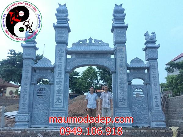 Lắp đặt cổng đình chùa đẹp nhất bằng đá tại Đồng Việt-Bắc Giang 07