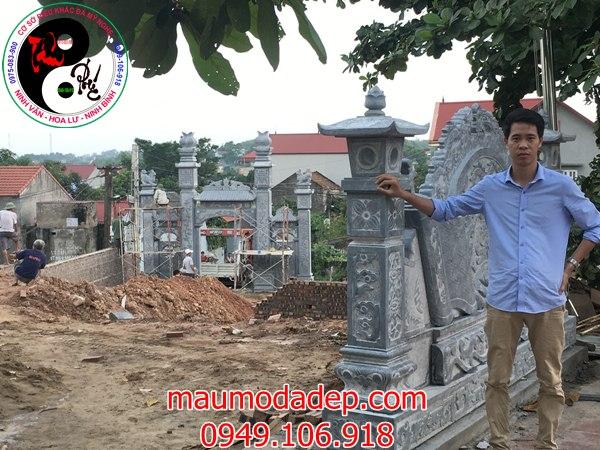 Lắp đặt cổng đình chùa đẹp nhất bằng đá tại Bắc Giang