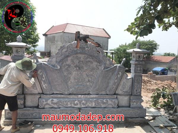 Mẫu án thư đá ở chùa Bằng Lương
