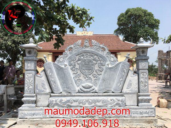 Mẫu án thư đá ở chùa