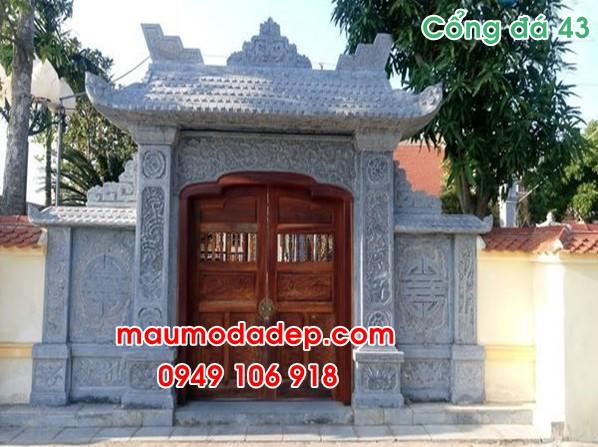 Hình ảnh mẫu cổng đẹp bằng đá 43