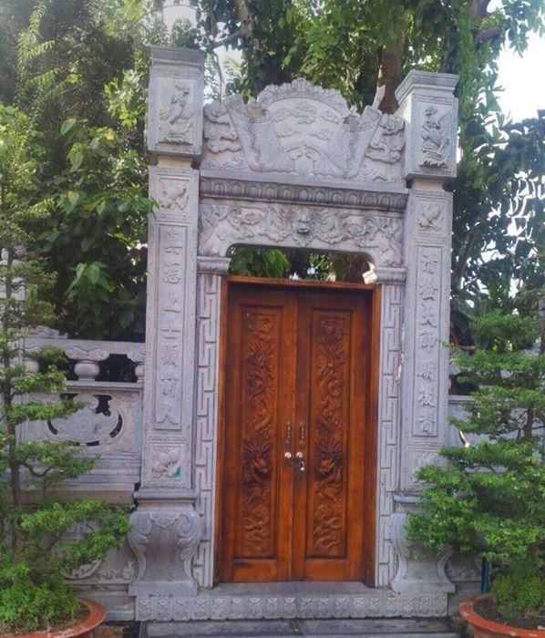 mẫu cổng đá nhà thờ họ đẹp 45