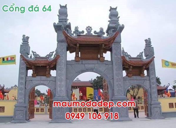 Mẫu cổng tam quan chùa
