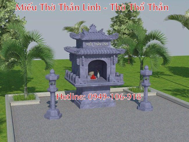 Mẫu thiết kế xây miếu thờ thần linh, miếu thổ thần bằng đá