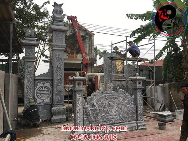 Mẫu cổng đá nhà thờ họ phạm