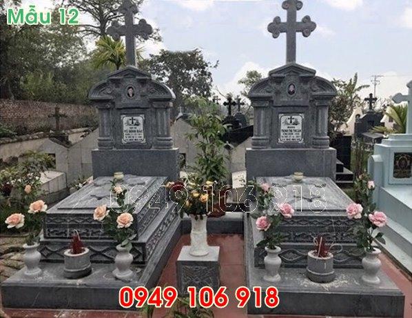 35 mẫu mộ công giáo đẹp bằng đá năm 2019