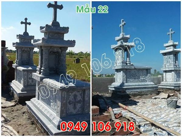 mẫu mộ công giáo có mái đẹp bằng đá năm 2019 - 22