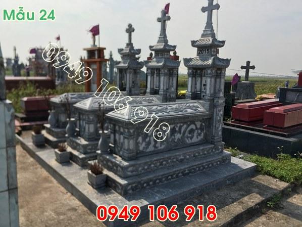 mẫu mộ công giáo có mái đẹp bằng đá năm 2019 - 24