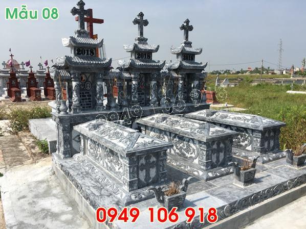 mẫu mộ công giáo đẹp hai mái bằng đá năm 2019 - 8