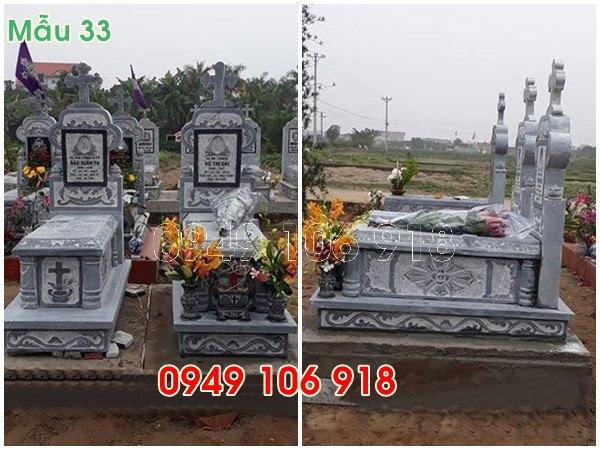mẫu mộ công giáo không mái đẹp bằng đá năm 2019 - 33