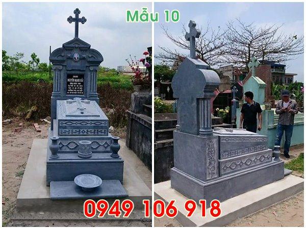 mẫu mộ công giáo tam cấp đẹp bằng đá năm 2019 -10