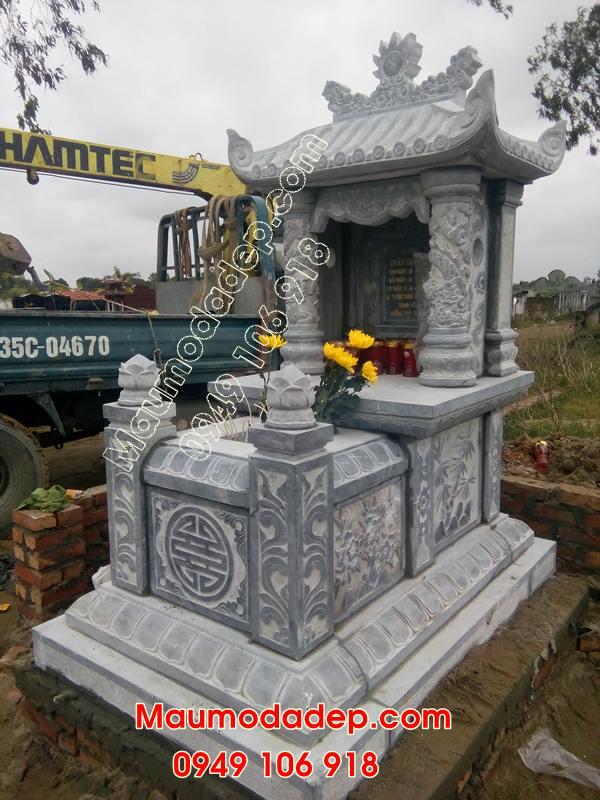 Mẫu mộ xây đẹp có mái