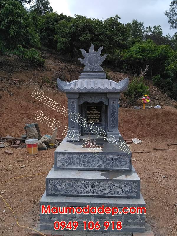 Mẫu mộ xây đẹp tam cấp
