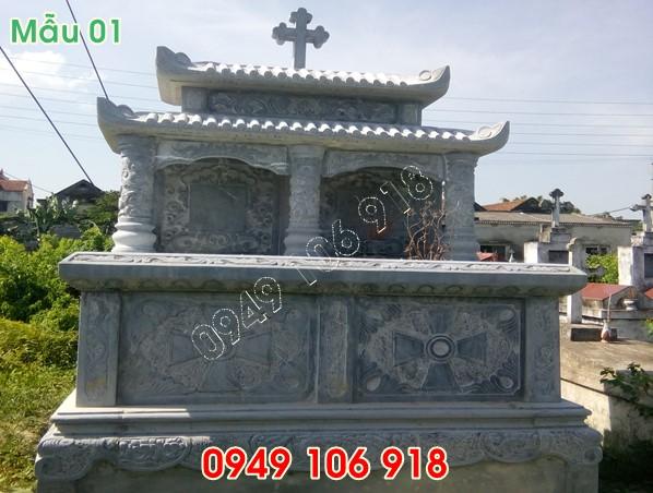 Mộ công giáo bằng đá hai mái đẹp nhất tại ninh bình