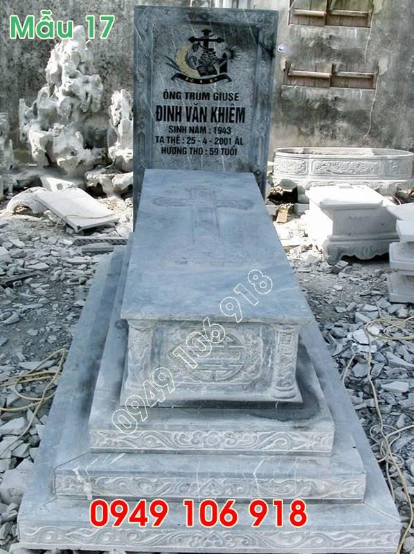 Mộ công giáo đẹp không mái bằng đá tự nhiên tại Nam Định