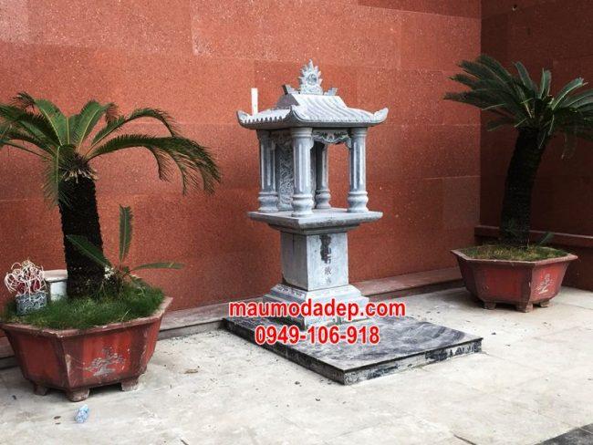 Xây cây hương đá thờ thần linh tại tòa nhà sông đà, hà nội