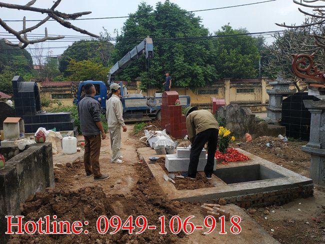 Xây mộ đôi đẹp tại Hà Nội 01