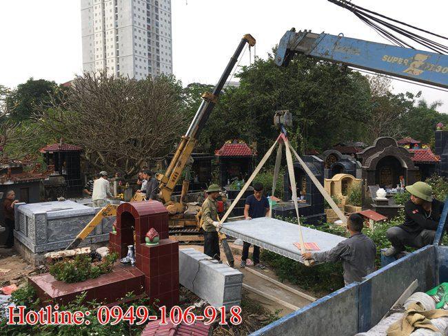 Xây mộ đôi đẹp tại Hà Nội 02