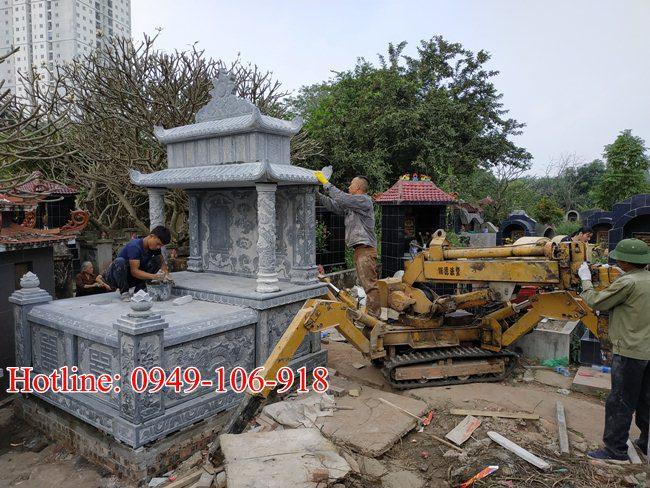 Xây mộ đôi đẹp tại Hà Nội 05