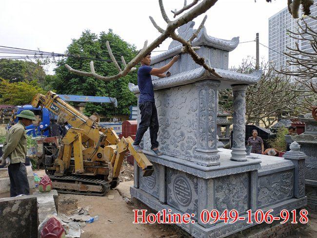 Xây mộ đôi đẹp tại Hà Nội 06