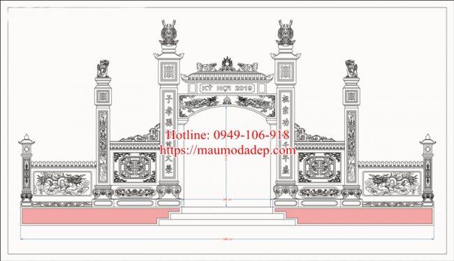 Bản vẽ thiết kế cổng nhà thờ họ 4a