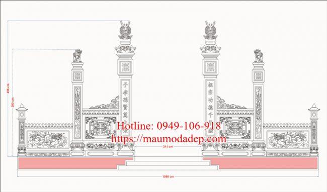 Bản vẽ thiết kế cổng nhà thờ họ 4b