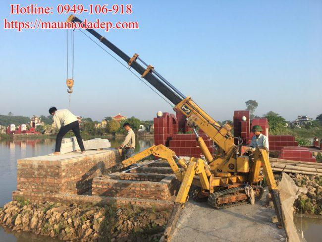 Mẫu lăng mộ xây đẹp tại Phú Xuyên - Hà Nội 01