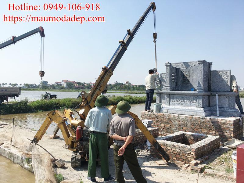 Mẫu lăng mộ xây đẹp tại Phú Xuyên - Hà Nội 02