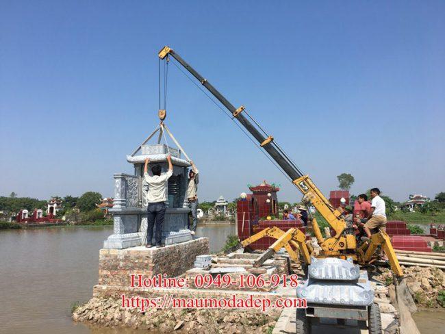 Mẫu lăng mộ xây đẹp tại Phú Xuyên - Hà Nội 03