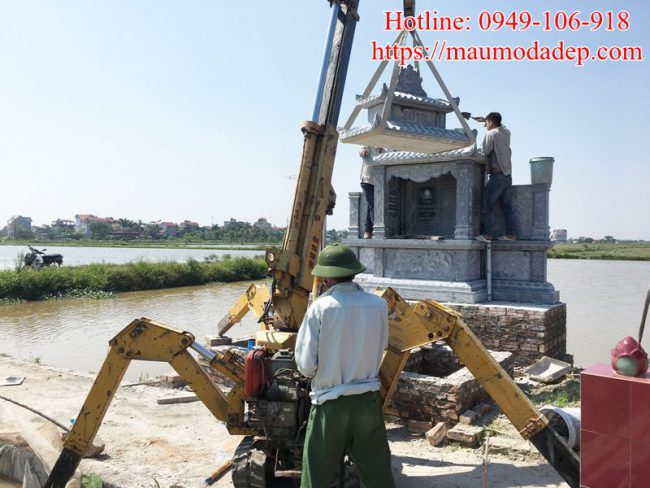 Mẫu lăng mộ xây đẹp tại Phú Xuyên - Hà Nội 04