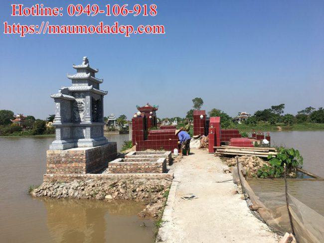 Mẫu lăng mộ xây đẹp tại Phú Xuyên - Hà Nội 05