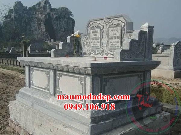 Các mẫu mộ đôi xây đẹp đơn giản