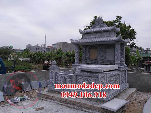 Mẫu mộ đôi xây đẹp đơn giản bằng đá năm 2020