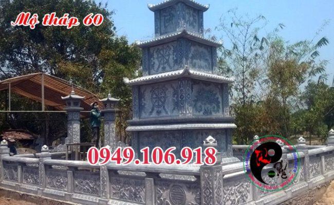 Mẫu mộ đá hình tháp bằng đá 60