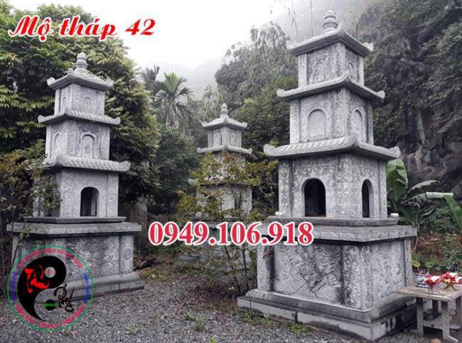 Mẫu mộ hình tháp bằng đá 42