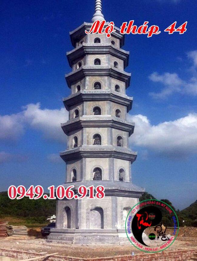 Mẫu mộ hình tháp đẹp bằng đá 44
