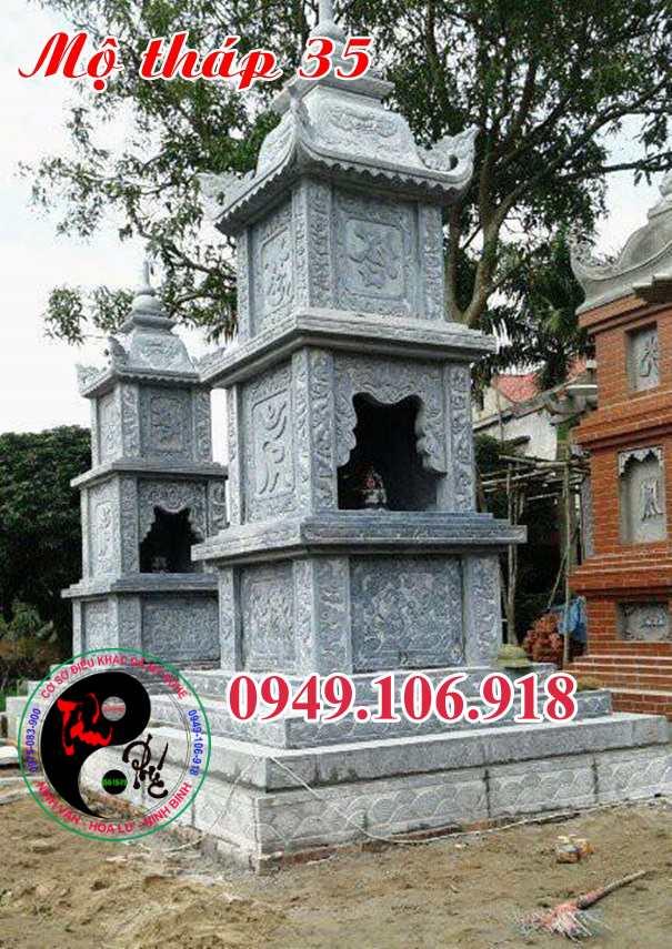 Mẫu mộ tháp bằng đá 35