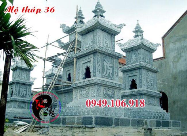 Mẫu mộ tháp bằng đá 36