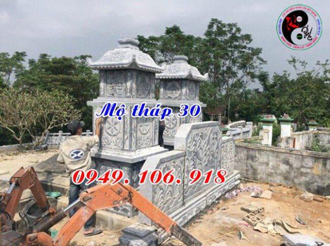 Mẫu mộ tháp đá đẹp bằng đá 30
