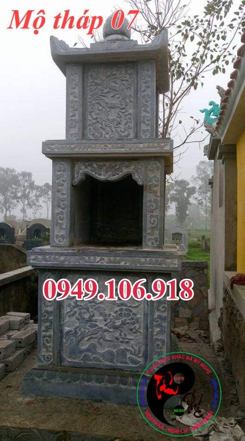 Mẫu mộ tháp đẹp bằng đá 07