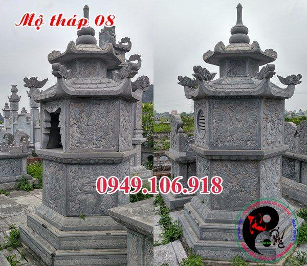 Mẫu mộ tháp đẹp bằng đá 08