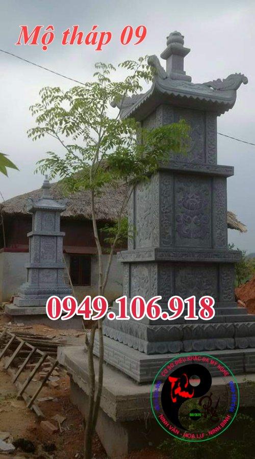 Mẫu mộ tháp đẹp bằng đá 09