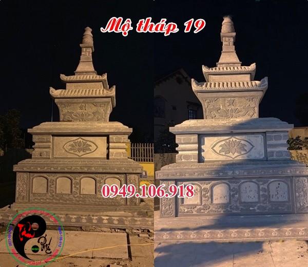 Mẫu mộ tháp phật giáo bằng đá 19