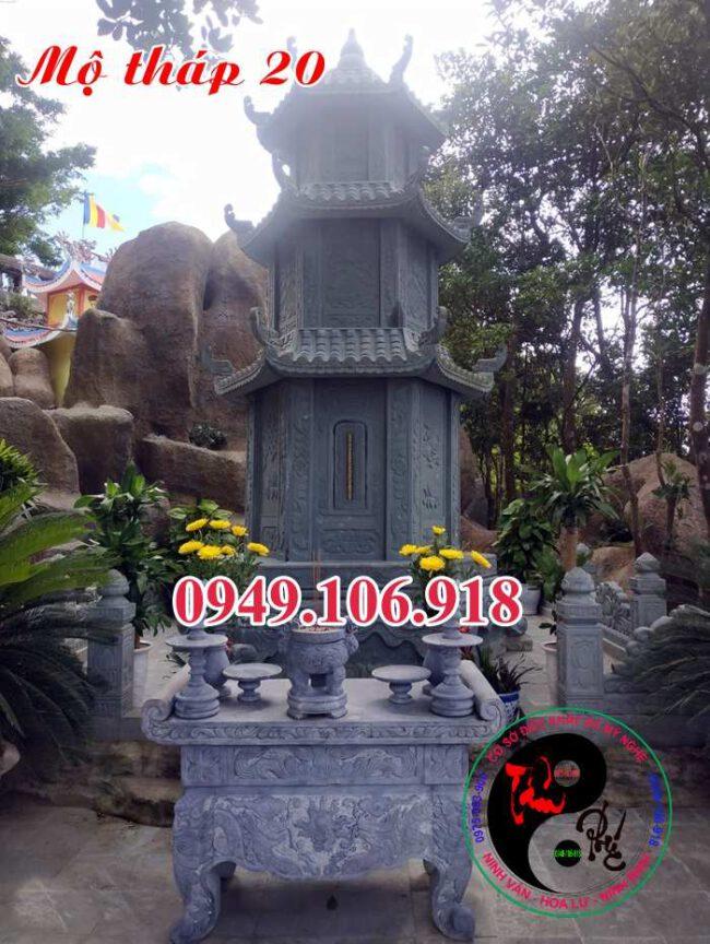 Mẫu mộ tháp phật giáo bằng đá 20