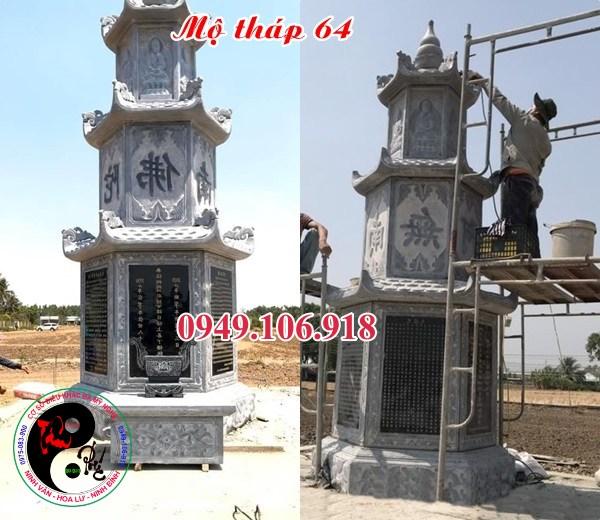Mẫu mộ tháp phật giáo bằng đá đẹp 64