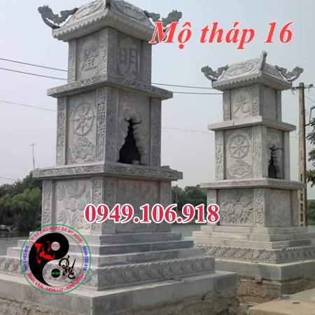 Mẫu mộ tháp phật giáo đẹp bằng đá 16